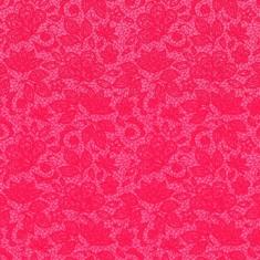 Tecido Tricoline Renda - Fundo Rosa Pink - Coleção 2 - Preço de 50 cm x 150 cm