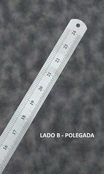 Régua em Aço Inox - 60 cm