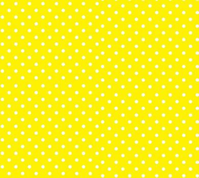 Tecido Tricoline Estampa Poá Branco com Fundo Amarelo