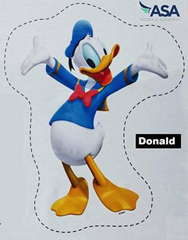 Tecido Digital Naninha Disney : Mickey, Donald, Pluto e Pateta - Vendidas Separadamente