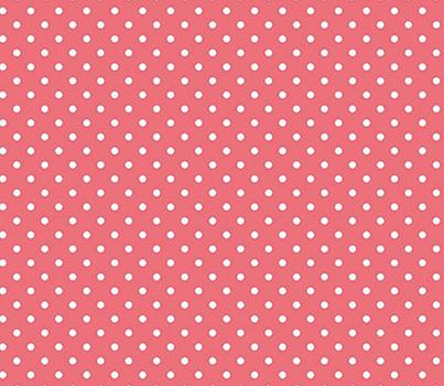 Tecido Tricoline  Estampa Micro Poá Branco com Rosa Flamingo