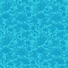 Tecido Tricoline Renda - Fundo Azul Turquesa - Coleção 2 - Preço de 50 cm x 150 cm