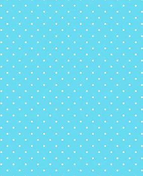 Tecido Tricoline Estampa Micro Poá Branco - Fundo Azul Acqua Cyan