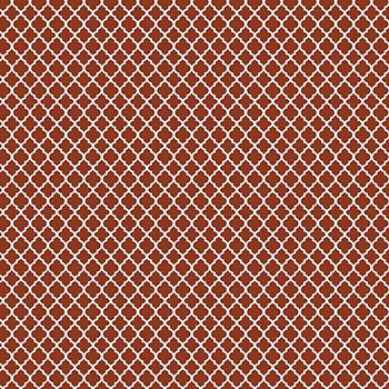 Tecido Tricoline Mini Vitral Treliça - Fundo Ferrugem - Preço de 50 cm x 150 cm