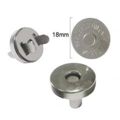 Botão Magnético (Prateado) - Diâmetro 18mm