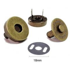 Botão Magnético (Ouro Velho) - Diâmetro 18mm