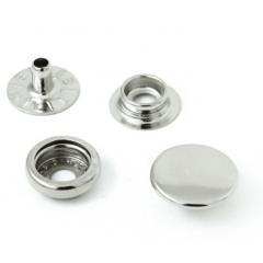 Botão de Pressão Eberle 7.130.80.6.F - Prata - Valor de 10 unidades