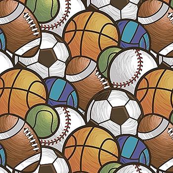 Tecido Digital Multi Bolas Esportes