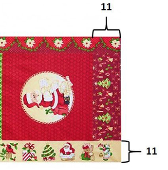 Tecido Tricoline com Estampa em Painel de Natal - Preço de 60 cm X 150 cm