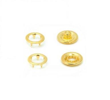 Botão de Pressão Eberle 7.095.35.02.L - 9,5mm - Dourado -  Valor de 10 unidades