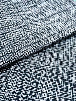 Tecido Tricoline Textura Riscada - Fundo Preto