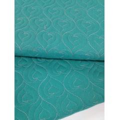 Sarja Matelassê Tiffany - Coração - Preço de 50cm x 150cm