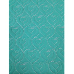 Sarja Matelassê Tiffany - Coração - Preço de 47cm x 150cm