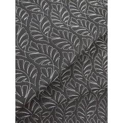 Sarja Matelassada Preta - Costela de Adão - Preço de 50cm x 150cm