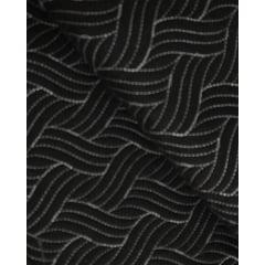 Sarja Matelassada Preta - Trança - Preço de 50cm x 150cm
