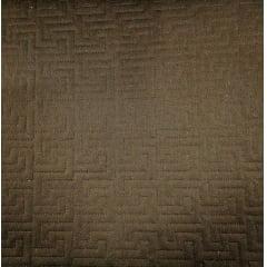 Sarja Matelassê Marrom - Labirinto - Preço de 45cm x 150cm