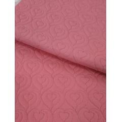 Sarja Matelassê Rosa - Coração - Preço de 50cm x 150cm