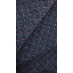 Jeans Matelassê Rosa Pink - Preço de 47cm x 150cm