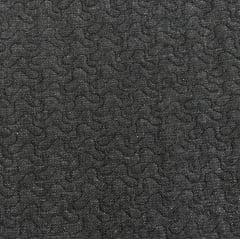 Jeans Matelassê Preto - Caminho de Bêbado - Preço de 50 cm x 150cm