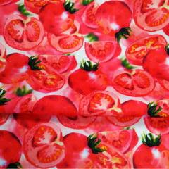 Tecido Sarja Decor - Sousplat - Tomates - Coleção Mesa Posta