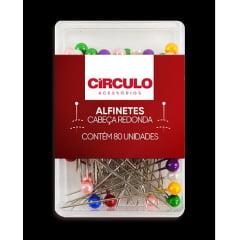 Alfinetes Coloridos Cabeça Redonda Perolado - 3,5 cm de Comprimento - 0,5 mm de Espessura