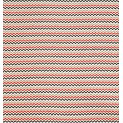 Tecido Tricoline Mini Chevron Preto, Branco, Vermelho e Cinza  - Preço de 50 cm X 150 cm -