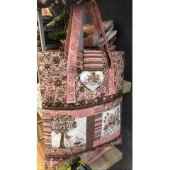 Tecido Digital Painel Bolsa e Necessaires - Flores e Passarinhos - Preço de 70 cm x 150 cm