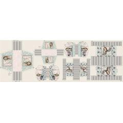Tecido Digital Painel Necessaire - Coleção Viagem - Preço de 45 cm x 150 cm