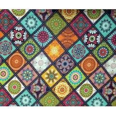 Tecido Digital Mandalas em  Quadros - Preço de 50cm x 150cm