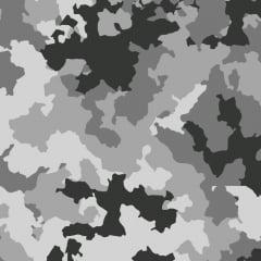 Tecido Tricoline Camuflado Neve - Preço de 50cm x 150cm