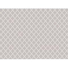 Tecido Tricoline Delicato Treliça Branca - Fundo Cinza  - Preço de 50cm x 150cm