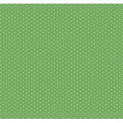 Tecido Tricoline  Estampa Micro Poá Branco com Fundo Verde Mineral - Preço de 50 cm X 150 cm
