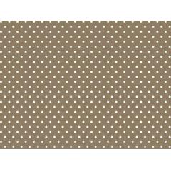 Tecido Tricoline Poá Pequeno Branco com Fundo Caqui - Preço de 50 cm x 150cm