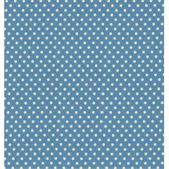 Tecido Tricoline Estampa Poá Bege com Fundo Azul Vintage - Preço de 50 cm x 150cm