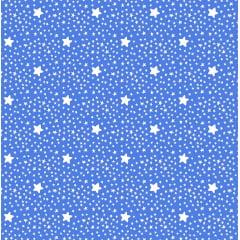 Tecido Tricoline Estrelinhas Azul Royal