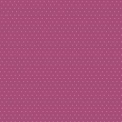 Tecido Tricoline Micro Poá Branco - Fundo Cereja - Preço de 50 cm x 150cm
