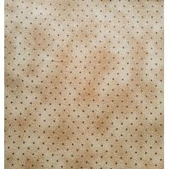 Tecido Tricoline Micro Poá Marrom com Poeira - Fundo Bege - Preço de 50 cm X 150 cm