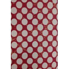 Tecido Tricoline Bolas Rosê - Fundo Rosa Escuro - Preço de 50 cm X 150 cm