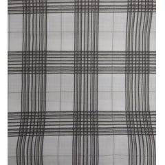 Tecido Tricoline Xadrez Grande Preto e Cinza - Fundo Branco - Preço de 50 cm X 150 cm
