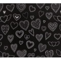 Tecido Tricoline Torre Eiffel e Corações - Fundo Rosa - Preço de 50 cm x 150 cm