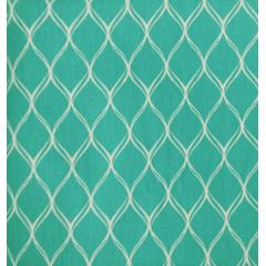 Tecido Tricoline Ondas - Fundo Tiffany - Preço de 50 cm x 150 cm