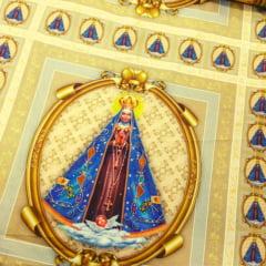 Tecido Tricoline Digital Painel Nossa Senhora Aparecida - Preço de 35cm x 150cm