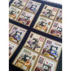 Tecido Tricoline Painel Máquina de Costura - Preço de 47 cm x 150 cm