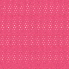 Tecido Tricoline Micro Poá Branco - Fundo Rosa Chiclete - Preço de 50 cm x 150 cm
