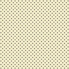 Tecido Tricoline Mini Poá Preto - Fundo Creme - Preço de 50 cm x 150 cm