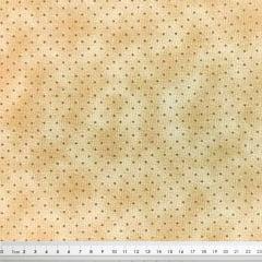 Tecido Tricoline Micro Poá e Poeira Marrom Claro - Fundo Café com Leite - Preço de 50 cm x 150 cm