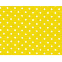 Tecido Tricoline Poá Pequeno Branco - Fundo Amarelo - Preço de 50 cm X 150 cm