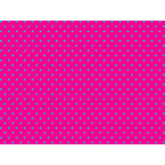 Tecido Tricoline  Poá Pequeno Turquesa - Fundo Rosa Pink - Preço de 50 cm X 150 cm