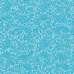 Tecido Tricoline Renda - Fundo Azul Celeste - Preço de 50 cm x 150 cm