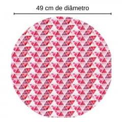 Tecido Sarja Decor - Sousplat - Triângulo Aquarelado - Coleção Mesa Posta